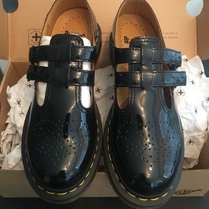 Dr. Marten brand new patent leather Mary Janes.